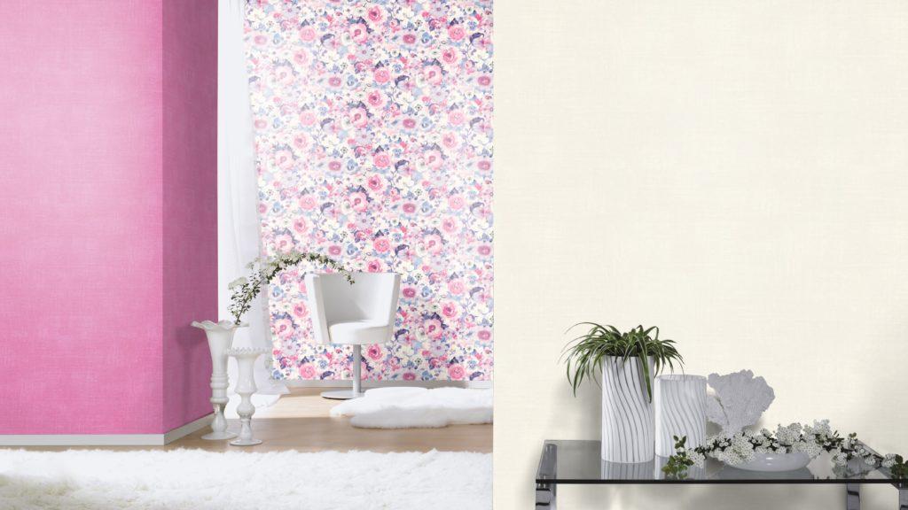 Rasch Lucy in the sky Tapete mit Blumenmotiv in pink, rosa, lila und violett - besonders femininer Look